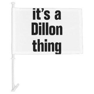 its a dillon thing car flag