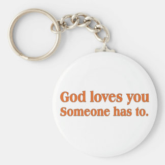 It's a dirty job but God can do it Keychain
