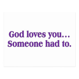 It's a dirty job, but God loves you Postcard