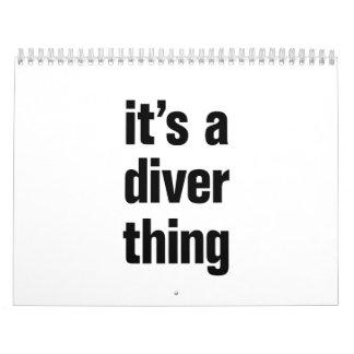 its a diver thing calendar