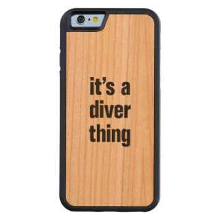 its a diver thing carved cherry iPhone 6 bumper case