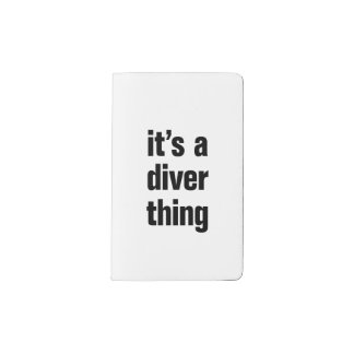 its a diver thing pocket moleskine notebook cover with notebook