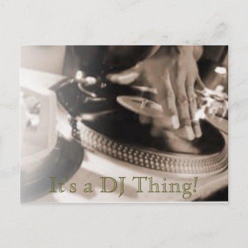 It's a DJ Thing! Postcard