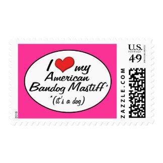 It's a Dog! I Love My American Bandog Mastiff Stamp