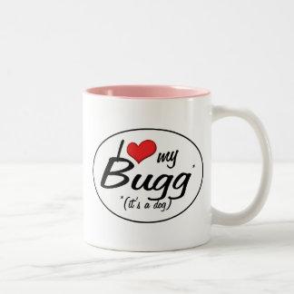 It's a Dog! I Love My Bugg Coffee Mugs