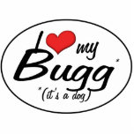 "It's a Dog! I Love My Bugg Cutout<br><div class=""desc"">As all dog lovers know, if your pup isn"
