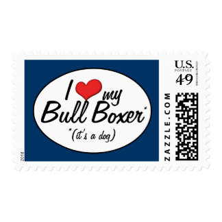 It's a Dog! I Love My Bull Boxer Postage