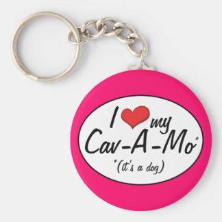 It's a Dog! I Love My Cav-A-Mo Keychain