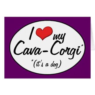 It's a Dog! I Love My Cava-Corgi Card