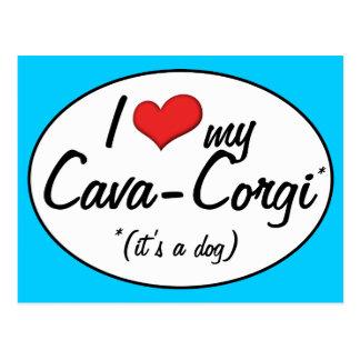 It's a Dog! I Love My Cava-Corgi Postcard
