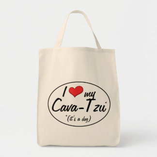 It's a Dog! I Love My Cava-Tzu Tote Bags