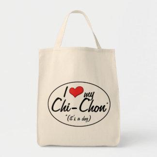 It's a Dog! I Love My Chi-Chon Tote Bag