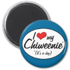 It's a Dog! I Love My Chiweenie Magnet