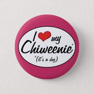 It's a Dog! I Love My Chiweenie Pinback Button