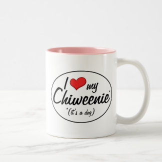 It's a Dog! I Love My Chiweenie Two-Tone Coffee Mug