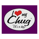 It's a Dog! I Love My Chug Poster