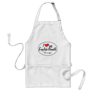 It's a Dog! I Love My English Boodle Aprons