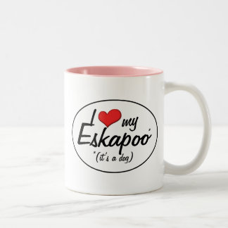 It's a Dog! I Love My Eskapoo Two-Tone Coffee Mug