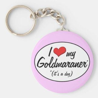 It's a Dog! I Love My Goldmaraner Keychain