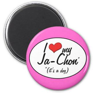 It's a Dog! I Love My Ja-Chon 2 Inch Round Magnet