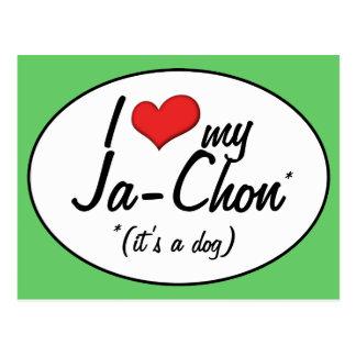 It's a Dog! I Love My Ja-Chon Postcard