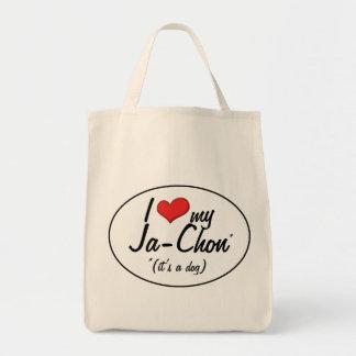 It's a Dog! I Love My Ja-Chon Tote Bag