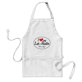 It's a Dog! I Love My Lab-Pointer Adult Apron