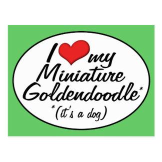 It's a Dog! I Love My Miniature Goldendoodle Postcard