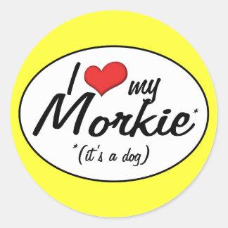 It's a Dog! I Love My Morkie Classic Round Sticker