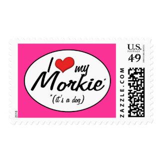 It's a Dog! I Love My Morkie Postage Stamp