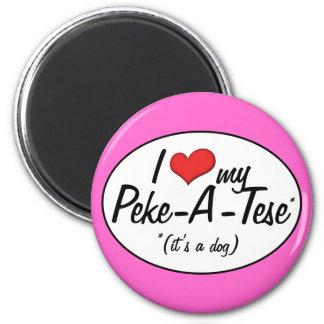 It's a Dog! I Love My Peke-A-Tese Magnet