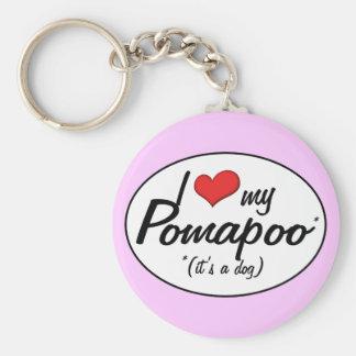 It's a Dog! I Love My Pomapoo Keychains