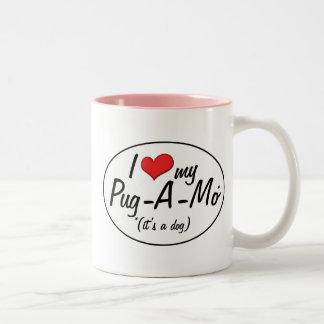 It's a Dog! I Love My Pug-A-Mo Mugs