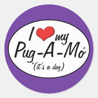 It's a Dog! I Love My Pug-A-Mo Stickers
