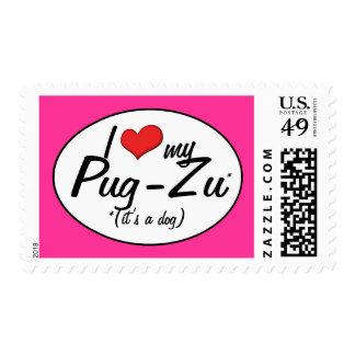 It's a Dog! I Love My Pug-Zu Stamp