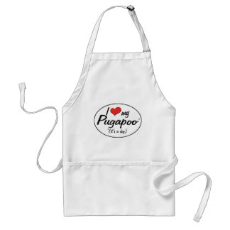It's a Dog! I Love My Pugapoo Adult Apron