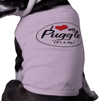 It's a Dog! I Love My Puggle Pet Tee