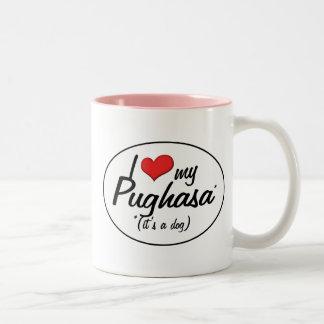 It's a Dog! I Love My Pughasa Mug