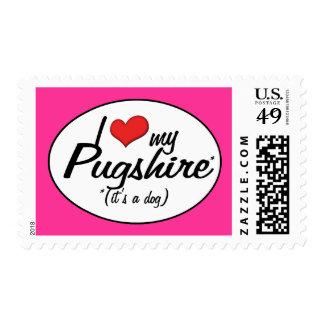It's a Dog! I Love My Pugshire Stamp