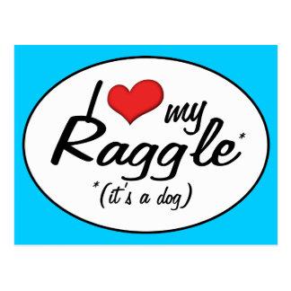 It's a Dog! I Love My Raggle Postcards