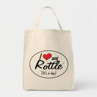 It's a Dog! I Love My Rottle Tote Bag