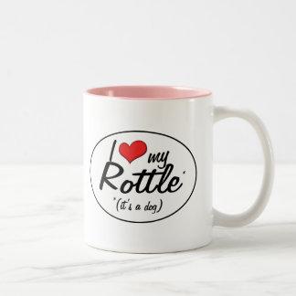 It's a Dog! I Love My Rottle Two-Tone Coffee Mug