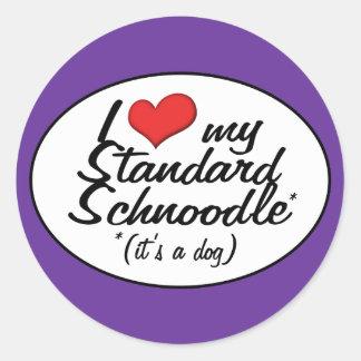 It's a Dog! I Love My Standard Schnoodle Classic Round Sticker