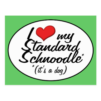 It's a Dog! I Love My Standard Schnoodle Postcard