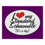 It's a Dog! I Love My Standard Schnoodle Poster