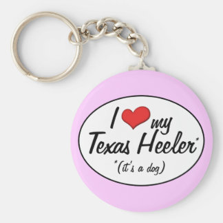 It's a Dog! I Love My Texas Heeler Key Chains