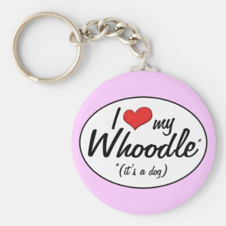 It's a Dog! I Love My Whoodle Basic Round Button Keychain