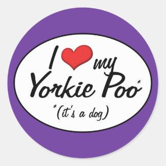 It's a Dog! I Love My Yorkie Poo Classic Round Sticker
