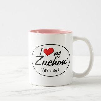 It's a Dog! I Love My Zuchon Two-Tone Coffee Mug