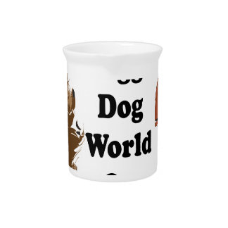It's a Doggie Dog World Out There.ai Beverage Pitcher